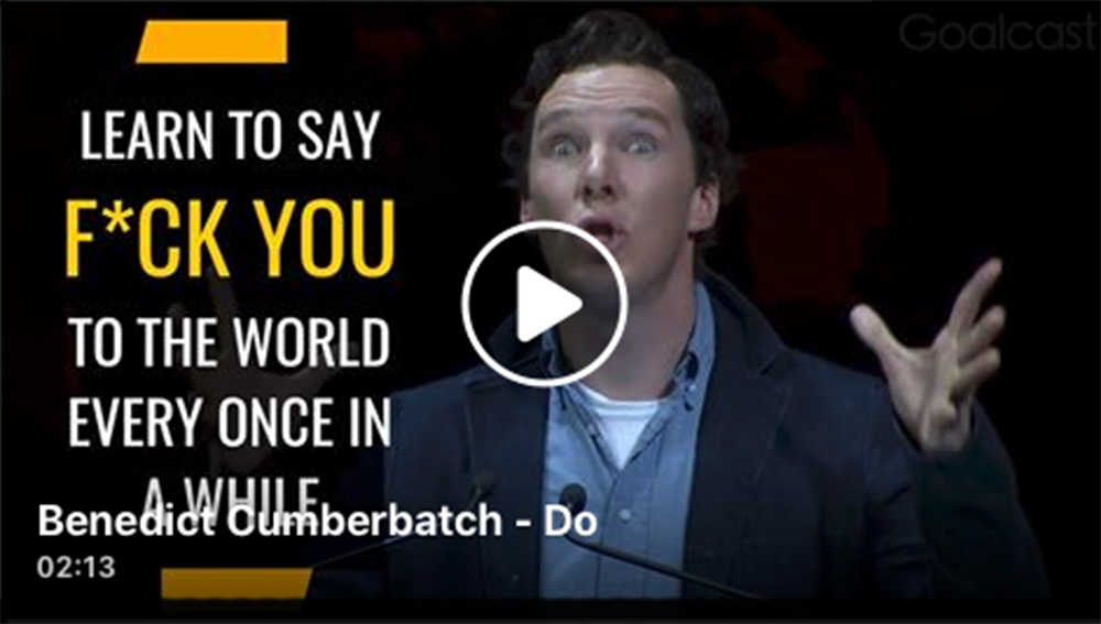 HeroStyle: Benedict Cumberbatch says quit thinking and just DO