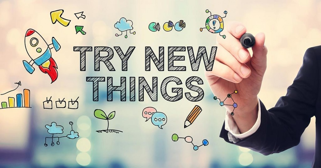 Overcome the feeling of being stagnant or stalled out by trying new things