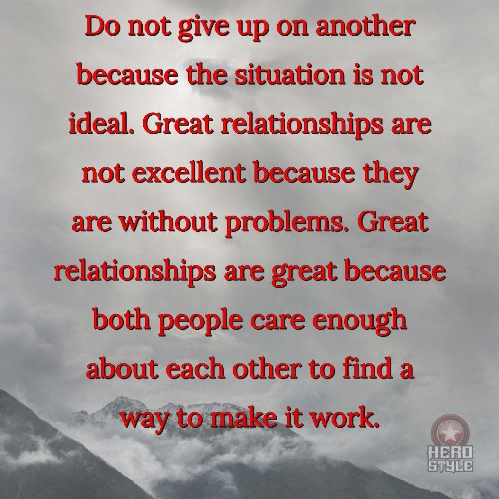 rebuild trust never give up on another because situation is not ideal