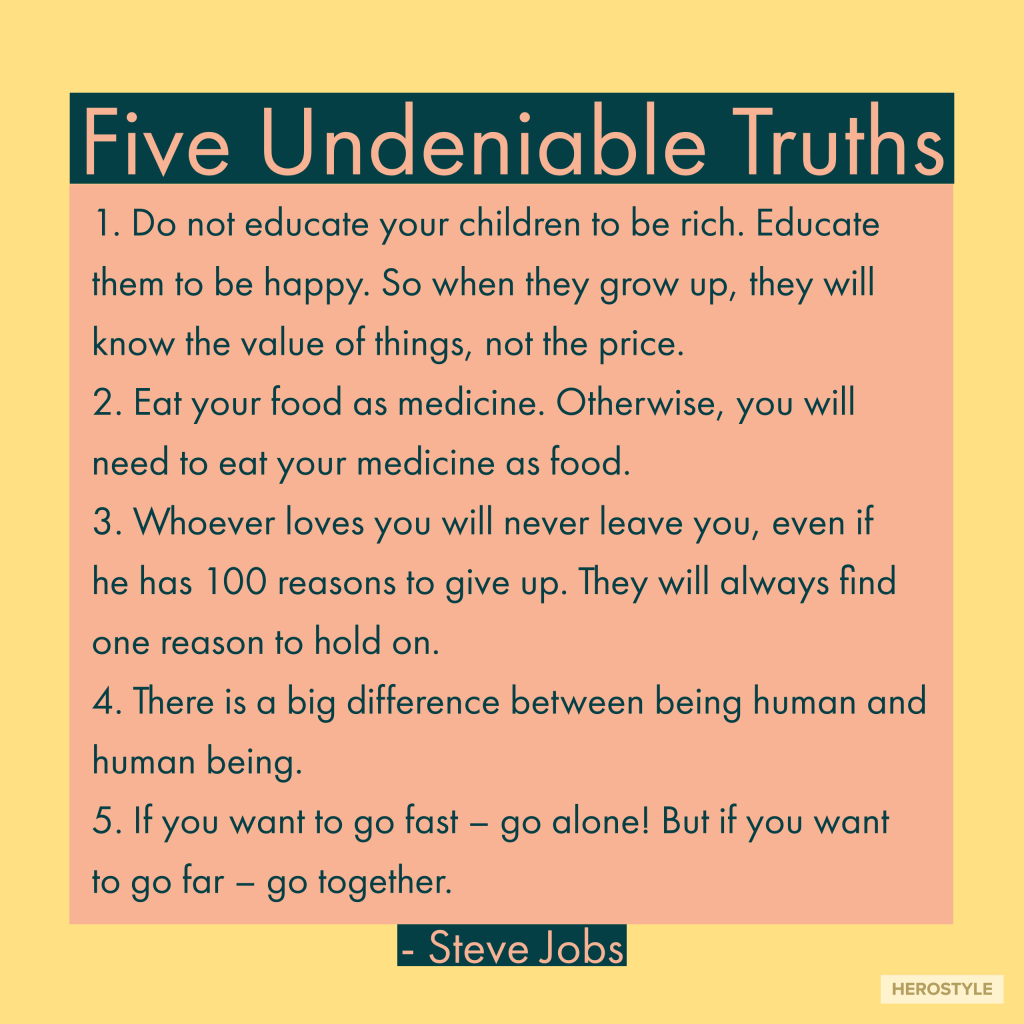 Five undeniable truths